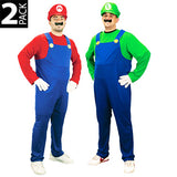 Super Mario Bros Luigi&Mario Adult Costume