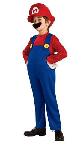 Super Mario Bros Mario Luigi Kids Costume
