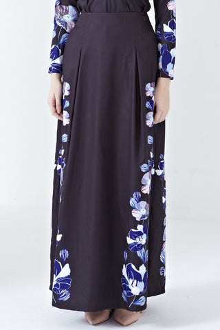 Emilya Maxi Skirt in Elina Placement Print