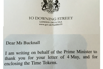 Time Tokens make it to No10...