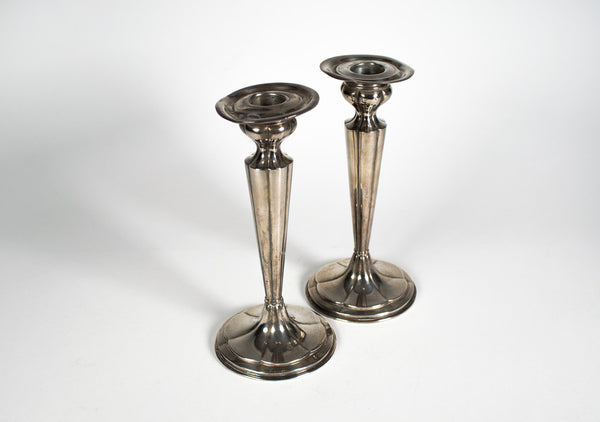 Sterling 440 Silver Candle Holders