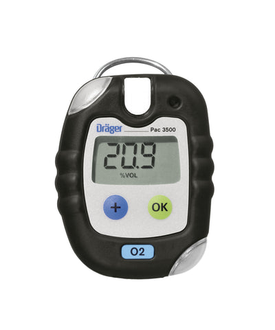 Dräger PAC 3500 Oxygen (O2) Personal Gas Monitor