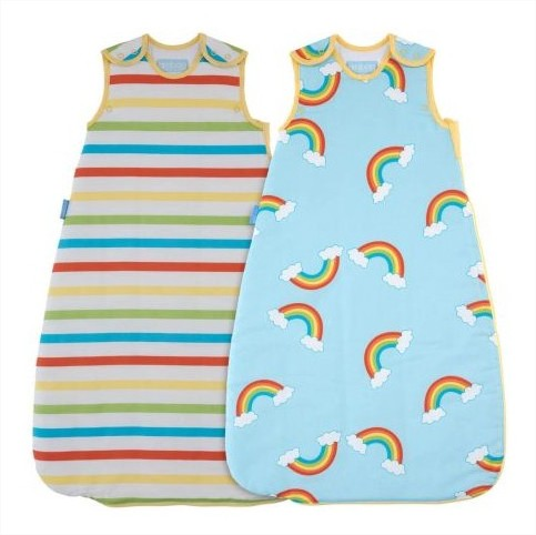 GroBag 2 Спални чувала 1 тог Rainbow Stripe wash and wear