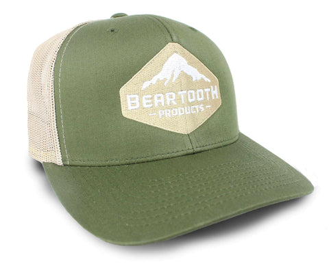 **NEW** BEARTOOTH MOUNTAIN DIAMOND HAT in Moss/Khaki