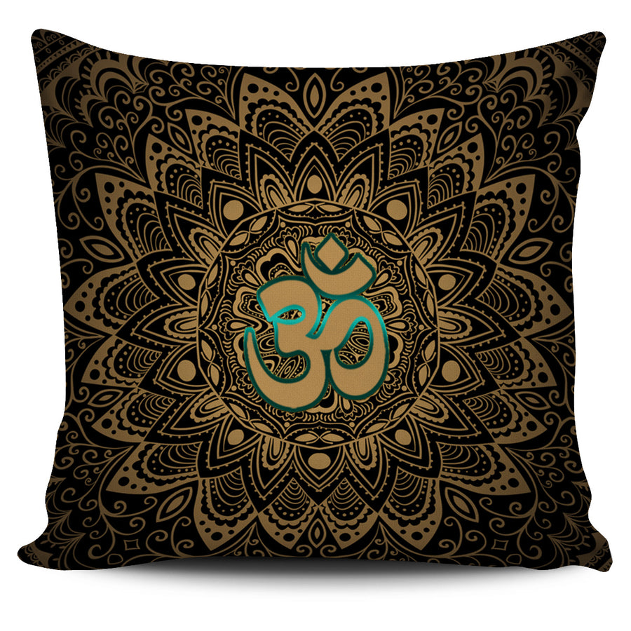 Elegant Golden OM Sign Pillow Cover