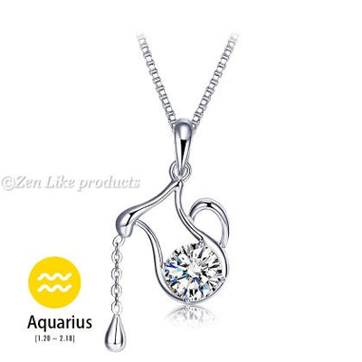 """Free"" Crystal Zodiac Pendant Necklaces"