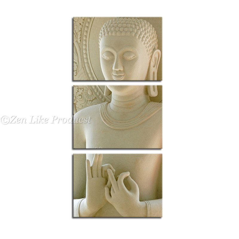Buddha 3 Panels Oil Painting