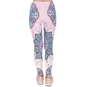 3D Mandala Flower Legging