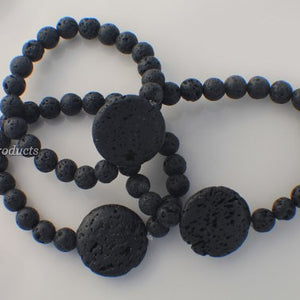 Black Essential Oil Diffuser Bracelet