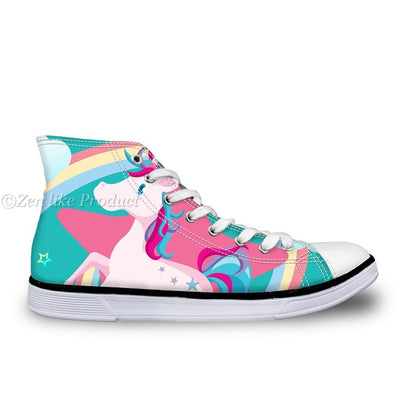 Cute Unicorn High Top