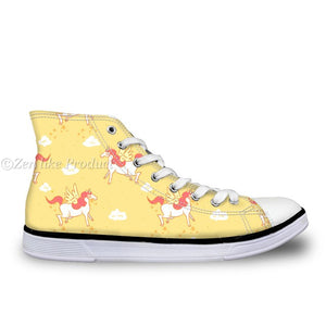 Yellow Unicorn High Top