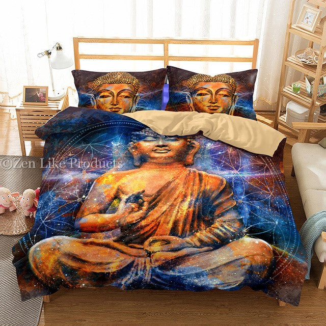 Galaxy Buddha Bedding Set