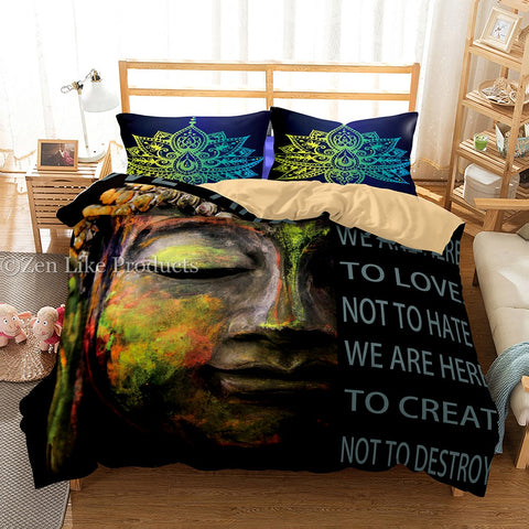 Buddha quote Bedding Set