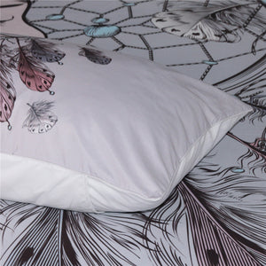 Lucky Feathers Dreamcatcher Moon Bed Set