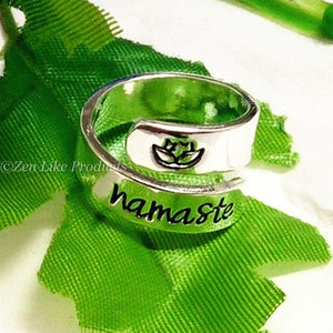 """ Free"" Namaste Lotus Flower ring"