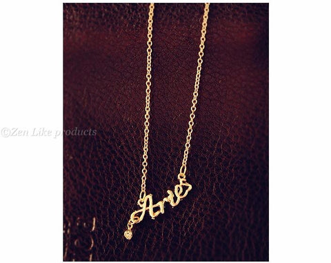 """Free"" Zodiac endless Letter Necklace"