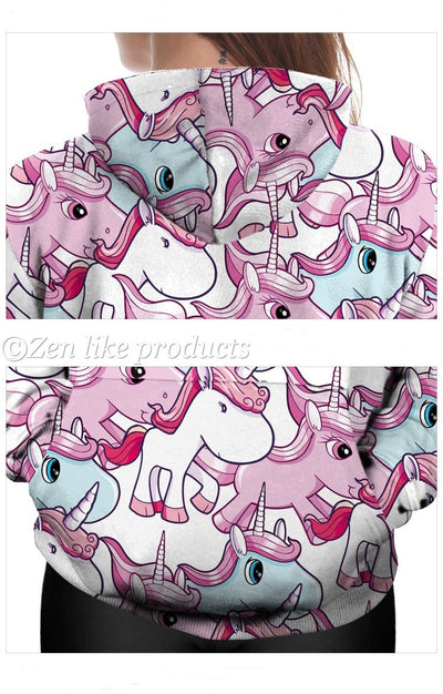 Cool Hoodies Pink Unicorn
