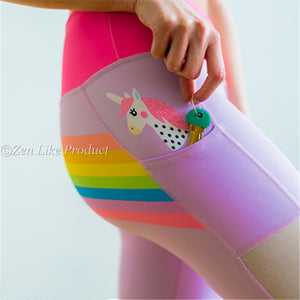 Unicorn In My Pocket Yoga Leggings
