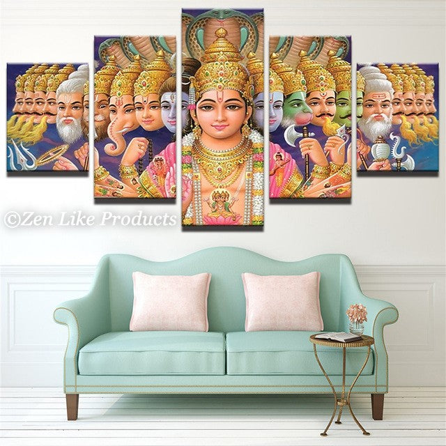 Lord Vishnu Canvas Painting
