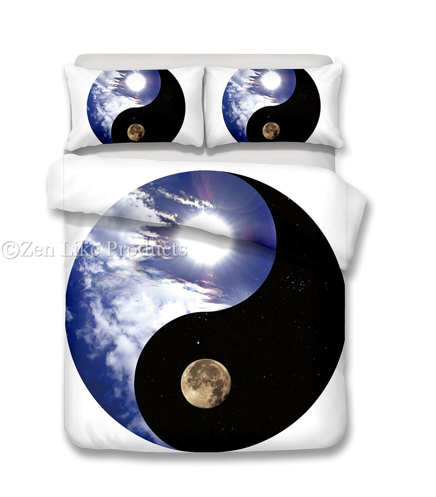 Sun and Moon Yin Yang Bedding