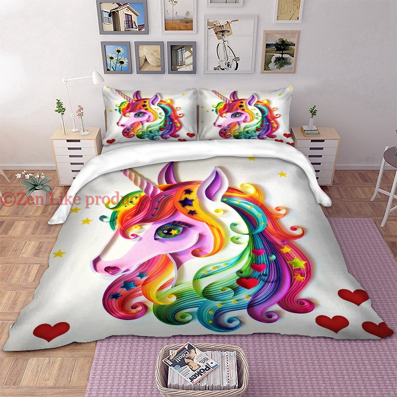 Love Unicorn Bedding