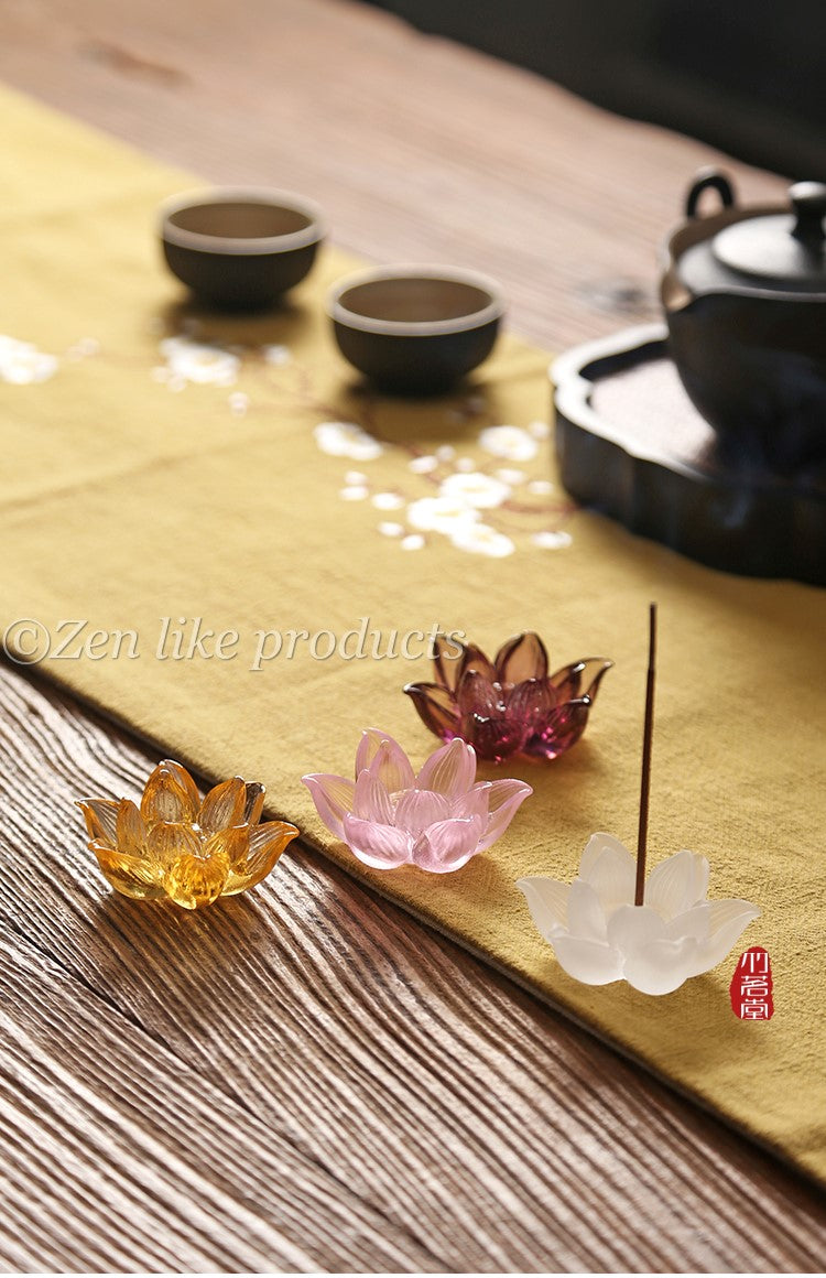 Lotus Crystal Incense Burner