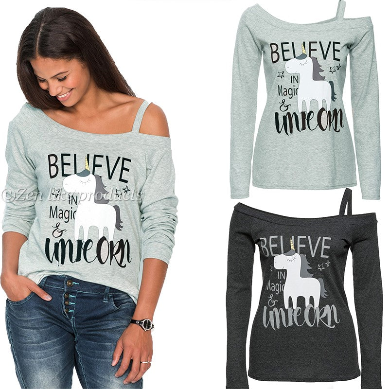 Unicorn Off the shoulder Long Sleeve