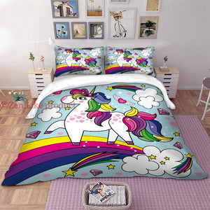 Cute  Unicorn Bedding