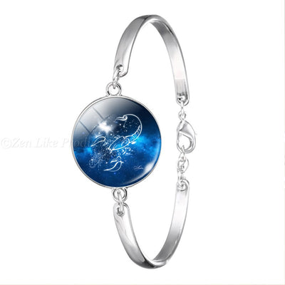 """FREE"" Zodiac Chain Bangle Bracelet"