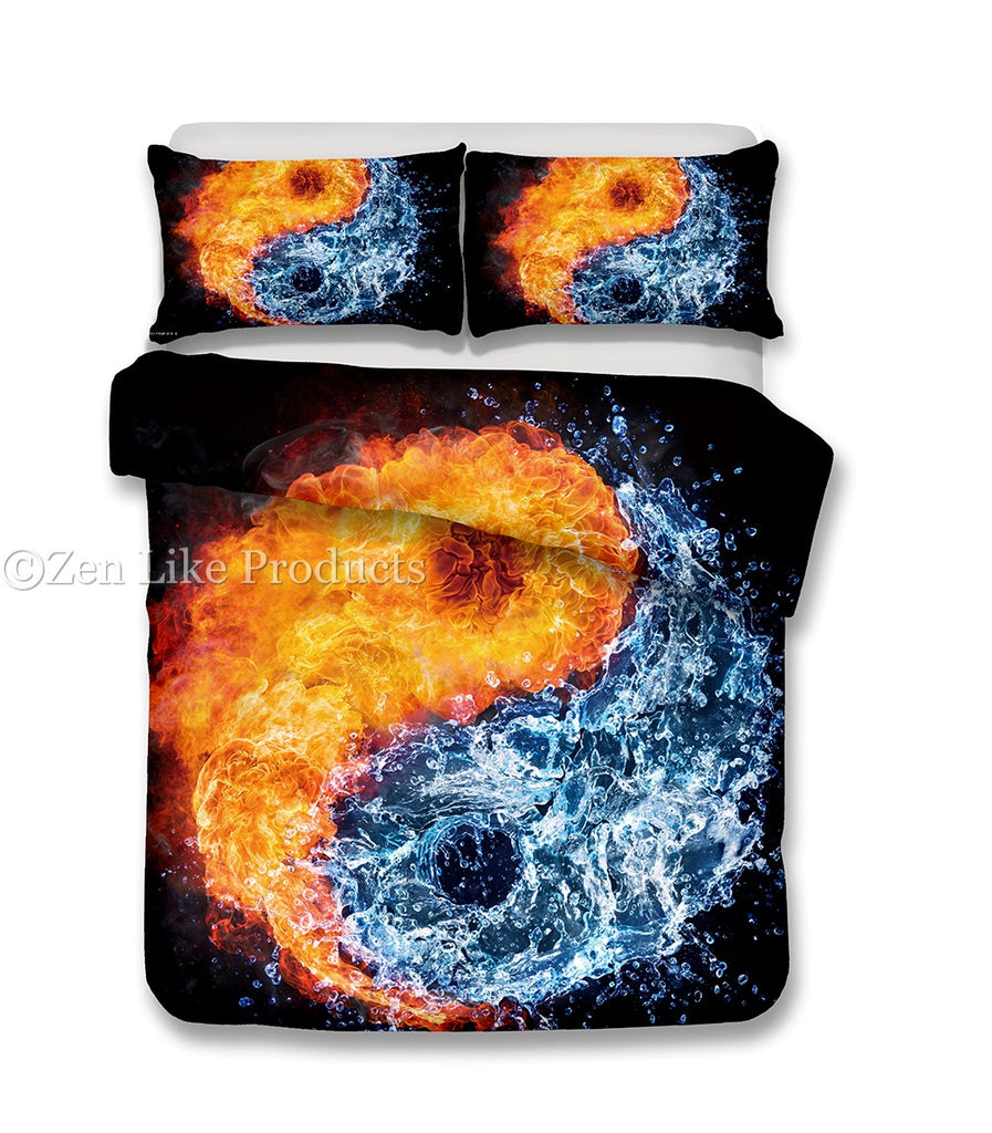 Yin Yang Fire and Water Bedding