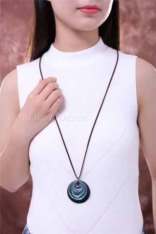 Blue Lava Stone Necklace