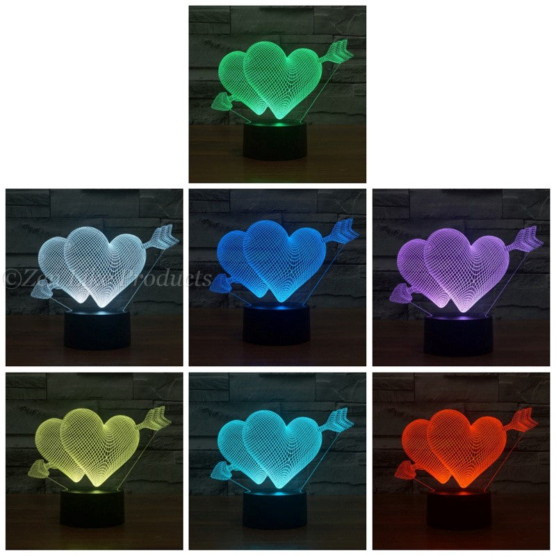 7 Colors Changing  Valentine's Day Heart