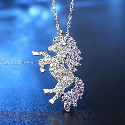 Crystal Unicorn Necklaces