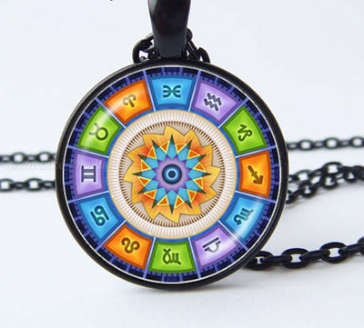 """Free"" Glass Dome Zodiac Necklace"