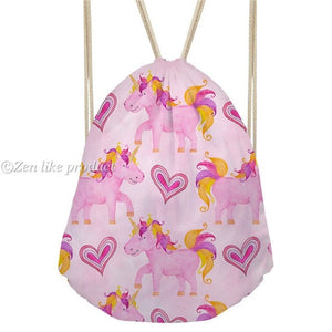 Drawstring Unicorn Pinky Heart
