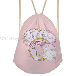 Drawstring bag Dreaming Unicorn