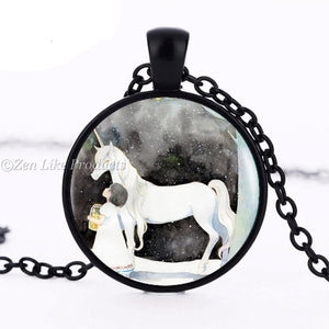 Art Unicorn Necklace