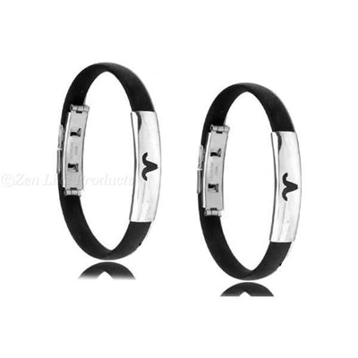 """FREE"" Black Rubber Bangle Zodiac Bracelet"