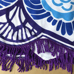 "Beach Blanket - Mandala Lotus Flower Shape Beach Blanket (""NEW"" Now Available In Different Colors)"