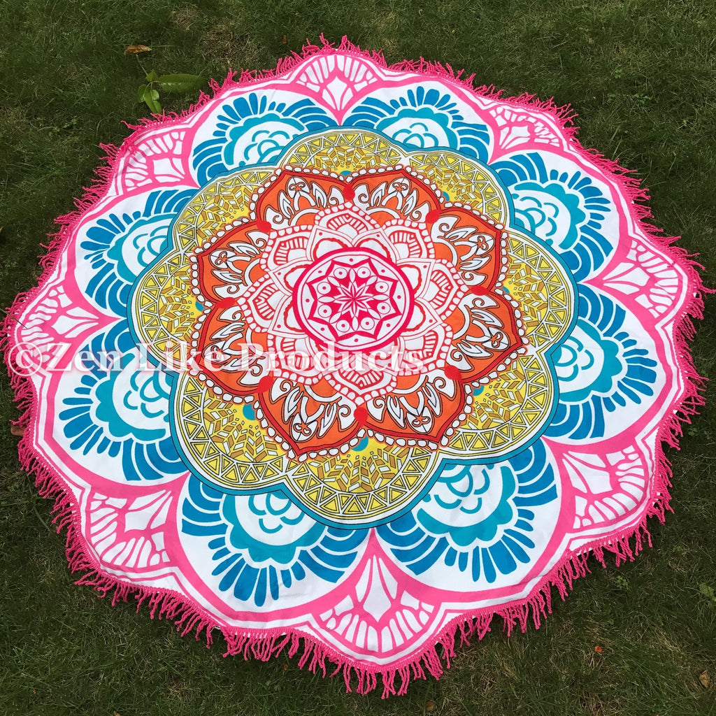 Mandala lotus flower shape beach blanket new now available in beach blanket mandala lotus flower shape beach blanket new now available in izmirmasajfo