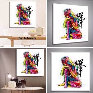 Bracelet - Canvas Buddha Painting