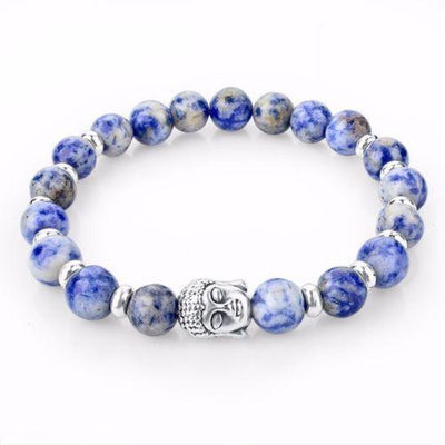 Bracelets - Buddha Tibet Energy Bracelet - (Light Blue)
