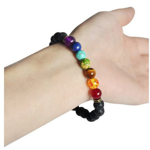 Bracelets - Chakra Healing Balance Bracelet Lava Wish Stones - LIMITED TIME OFFER (Buy 2 Get One Free)
