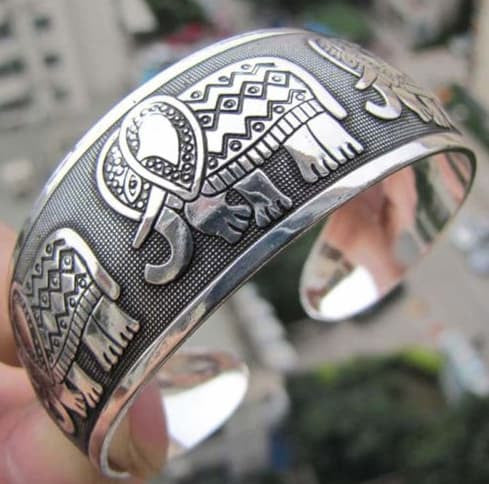Bracelets - Fashion Elephant  Bangle Cuff Bracelet