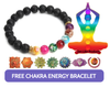"Bracelets - ""FREE"" Chakra Energy Bracelet ( Just Pay Shipping )"