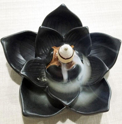 Ceramic Lotus Incense Burner