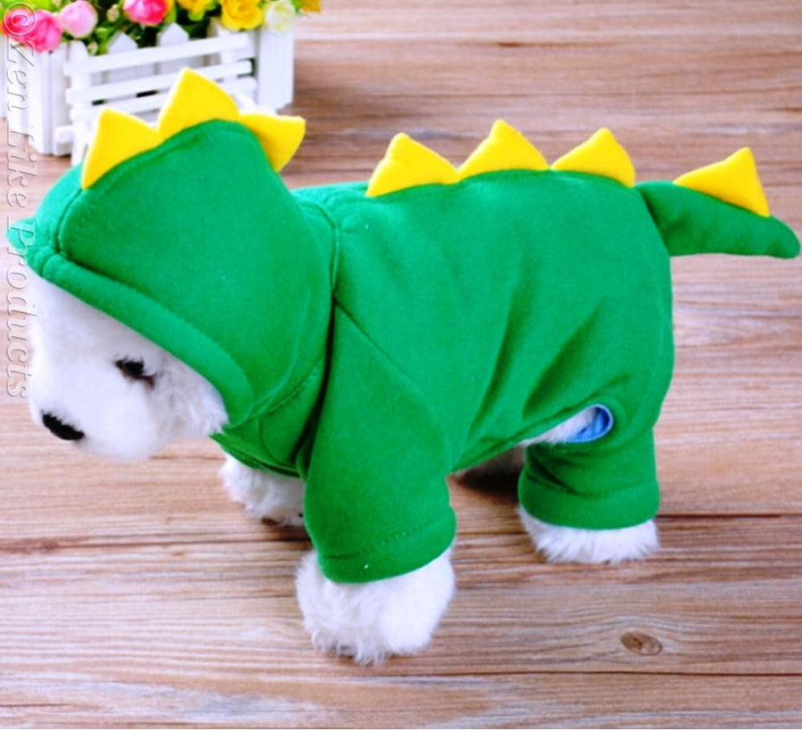 Dog Coats & Jackets - Cute Dinosaur Jacket
