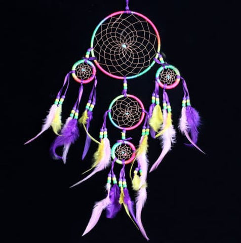 Dream Catchers - Handmade Dream Catcher With Feather Wall Hanging Decoration