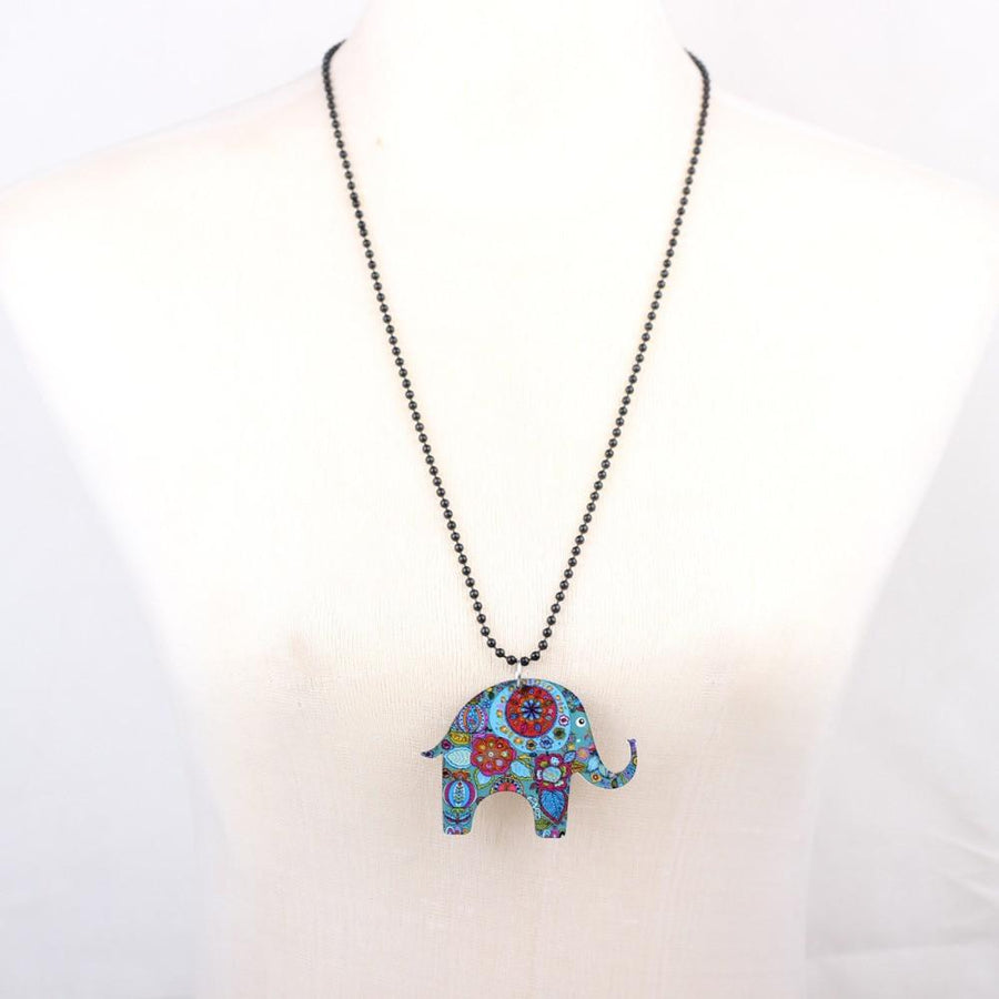 Elephant Lovers - Elephant  Acrylic Pendant Necklace