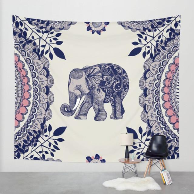 Elephant Lovers - Elephant Mandala Tapestry Beach Blanket Bohemian Tapestry